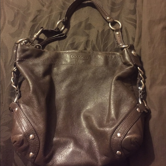 4f236dea Dark brown leather coach bag