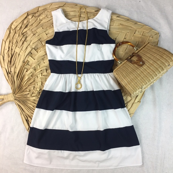 e80bd76f0f Dress Barn Dresses & Skirts - Dress Barn Nautical Navy & White Striped Dress