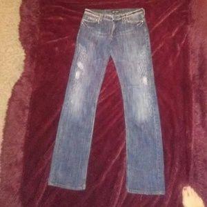 Armani Jeans Denim - Armani Blue straight leg Jeans size 28