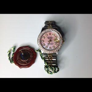 Rolex Accessories - Rolex Diamond Dial Oyster Perpetual DateJust