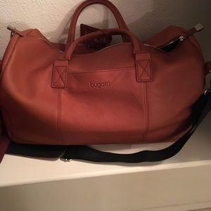 Bugatti Handbags - Bugatti overnight duffle cognac full grain leather
