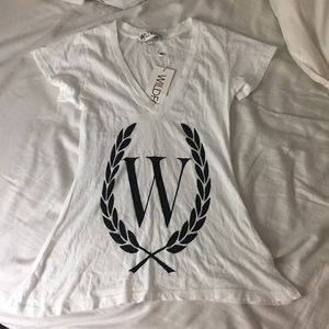 NWT white wildfox laurel t shirt-XS