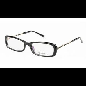 CHANEL Accessories - Chanel Black and Gold Eyewear + Leather Case.