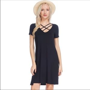Bellino Clothing Dresses & Skirts - Bellino crisscross dress