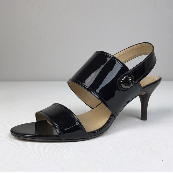Coach Shoes - Coach Marla Black Patent Leather Heel Sandals