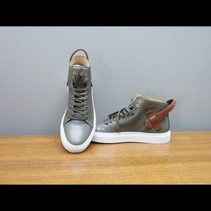 Buscemi Other - Buscemi Olive Leather 100MM Sneakers