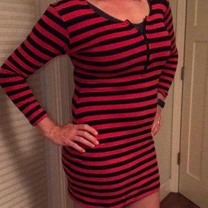 Yes Dresses & Skirts - Vintage 1980s Striped Zipper Dress L