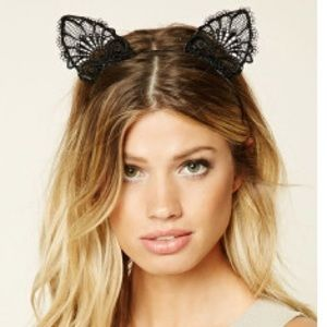 Accessories - Lace Cat Ear Headband