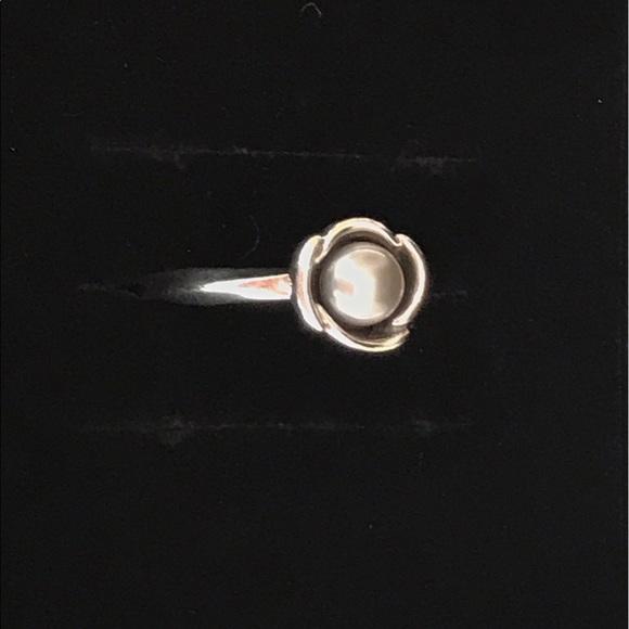 Pandora Grey Pearl Earrings: Pandora Grey Pearl Ring Size 7
