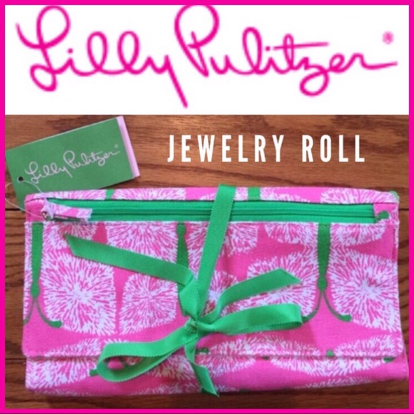 Lilly Pulitzer Handbags Lilly Pulitzer Jewelry Roll Hotty Pink NWT