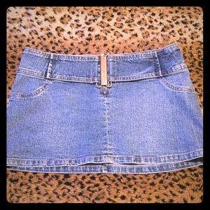 Hydraulic Dresses & Skirts - 90s HYDRAULIC Jean Mini Skirt - SIZE : 3 🦋