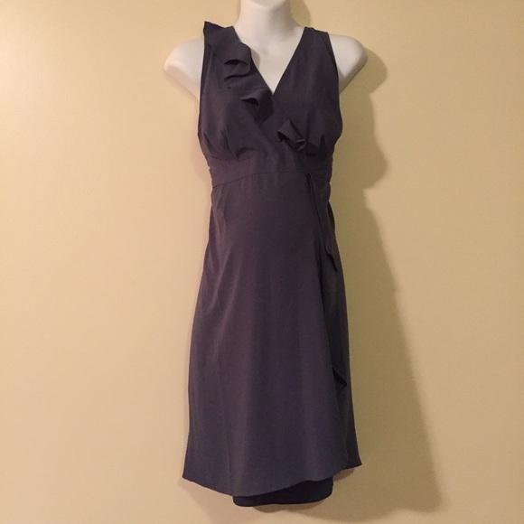 Motherhood Maternity Dresses - Grey chiffon maternity dress size large