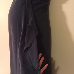 Motherhood Maternity Dresses - Grey chiffon maternity dress size large
