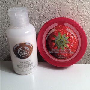 The Body Shop Other - New Body Shop Mini Body Butter & Body Milk bundle