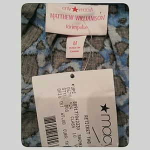 Macy's Pants - Blue and Black Hearts Romper NWTs Size Medium