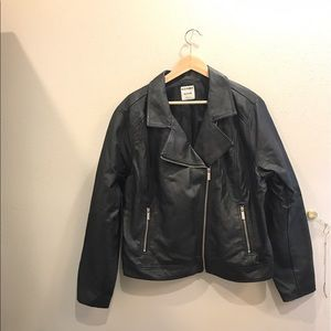 Old Navy Jackets & Blazers - Faux-leather moto jacket 🤗