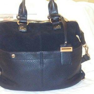Moda Lyle Black 100% Leather Bag