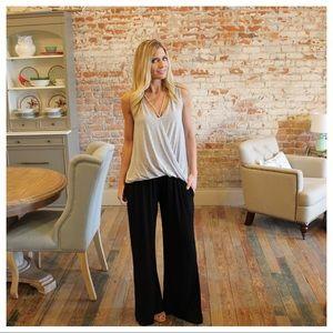 Pants - Black soft comfy flare pant