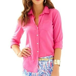 Lilly Pulitzer Tops - NWT - Lilly Pulitzer Anna Maria Button Down Shirt