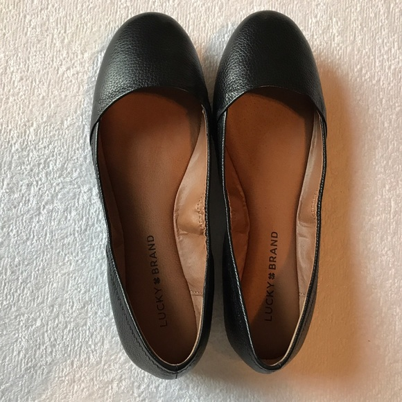 Lucky Brand Black Leather Flats 737
