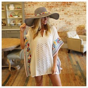 Other - Gorgeous threaded embroidered cover up