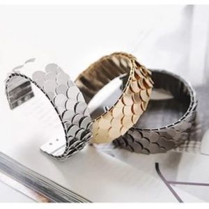 5 for $25 Fish Scale Cuff Bracelet