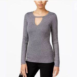 N E W | INC Knit Sweater - Silver Only