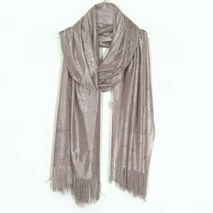 Shimmery fringed sari scarf