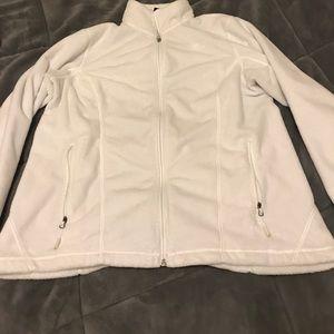 Women's north face zip up sweatshirt-large
