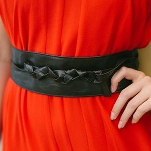 Cinch Solid Color Long Obi Belt