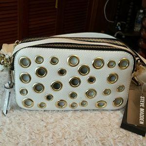Steve Madden  Handbags - Steve Madden NWT White Grommet Crossbody Bag
