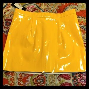 Nasty Gal Yellow Vinyl mini-skirt.