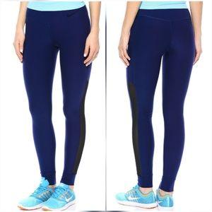 Nike Pants - Nike Legend Blue Black Mesh Running Tights Legging