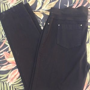 89th & Madison Pants - 89th & MADISON jegings in black stretch denim