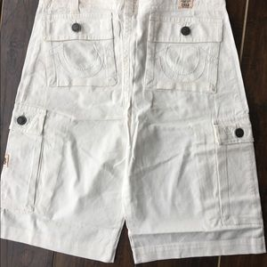 True Religion Other - New Men's True Religion White Cargo Shorts