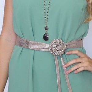 Cinch Metallic Long Obi Belt