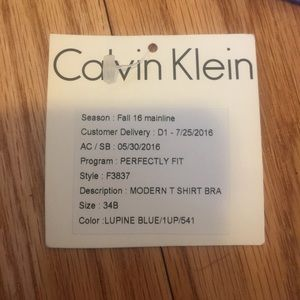 d01de7192ac9a Calvin Klein Underwear Intimates   Sleepwear - Periwinkle Calvin Klein  perfectly  fit  bra 34B