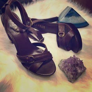 Ralph Lauren Shoes - Ralph Lauren leather ankle strap sandals