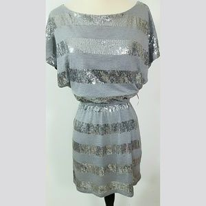 Love Rocks Dresses & Skirts - Love Rocks NWT Grey and silver sequined Mini Dress