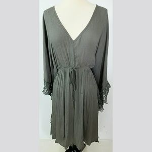 Charlotte Russe Dresses & Skirts - Charlotte Russe Olive Bohemian Dress size 2X