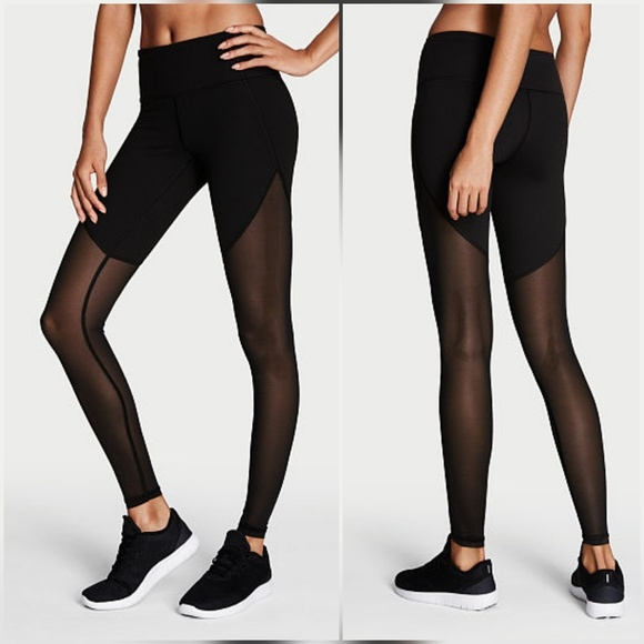 bb0b2599f5e Victoria's Secret Pants | Victorias Secret Black Mesh Knockout ...