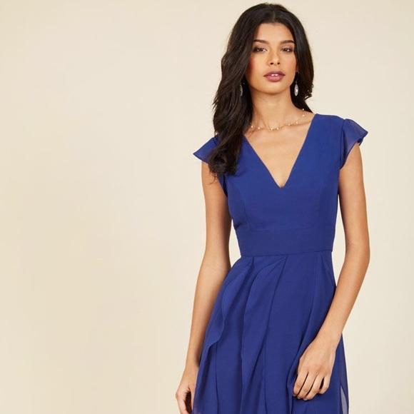 eb659e92829 Exquisite Epilogue Maxi Dress in Sapphire