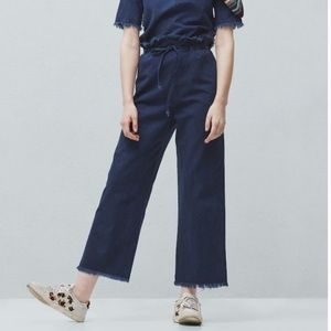 Mango Pants - MNG Denim Wide Pants/Culottes