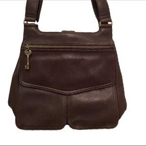 Fossil Handbags - FOSSIL vintage 1954 leather messenger key 75082