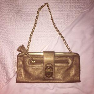 b. makowsky Handbags - B. Makowsky Gold Clutch