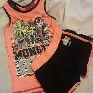 monster high Other - 🇺🇸 Monster High Orange short set 7/8
