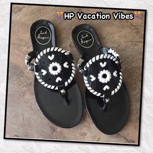 Jack Rogers Shoes - 🤗NEW Jack Rodgers Black and White Sandles