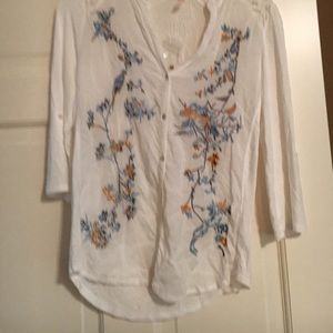 Bloomingdale's Tops - A NWOT TINY brand embroidered shirt