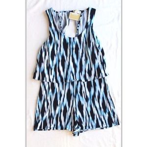 Michael kors blue romper with shorts new