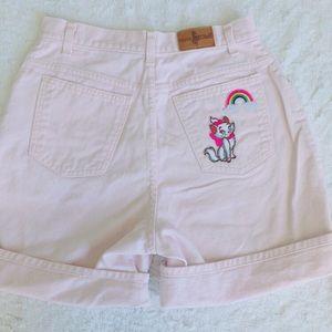 Lazy Oaf Pants - Pastel pink kawaii Marie cat shorts 🌈 🎀